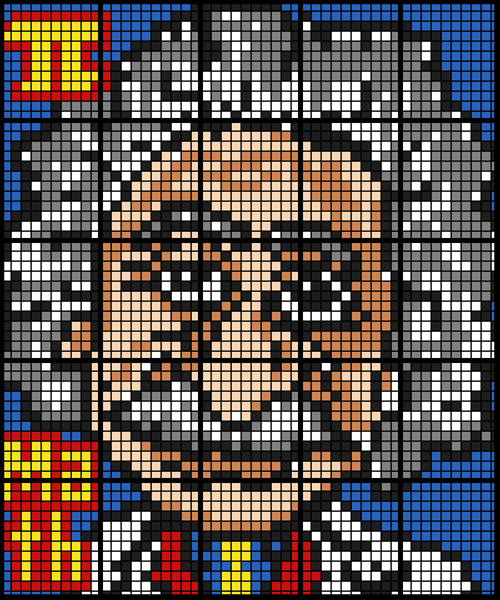 Here's the goal!  A 25-sheet Einstein mosaic that will look great on your wall!