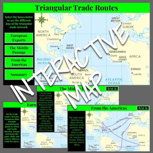 Interactive Map: Triangular Trade Routes