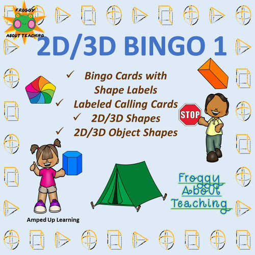 2D/3D Shape Bingo 1