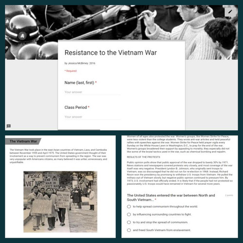 Informational Text: Resistance to the Vietnam War