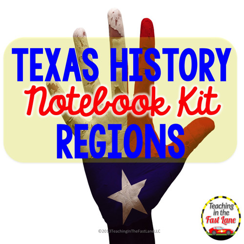 Regions of Texas Interactive Notebook - FREE