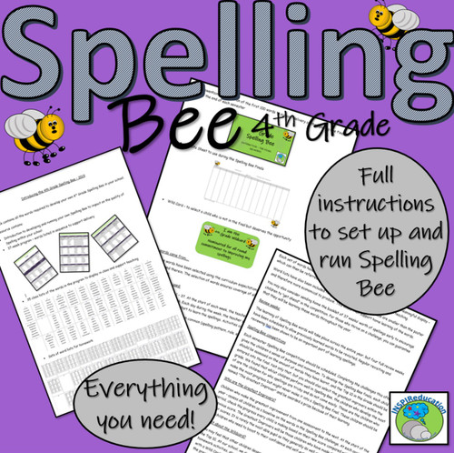 4th Grade Spelling Bee - Everything You Need (Y5 UK)