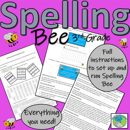 3rd Grade Spelling Bee - All You Need! 176 pages of resources