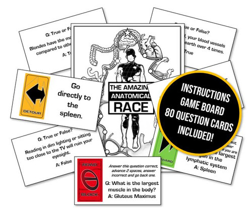Amazing Anatomical Race Game! General human body facts fun!