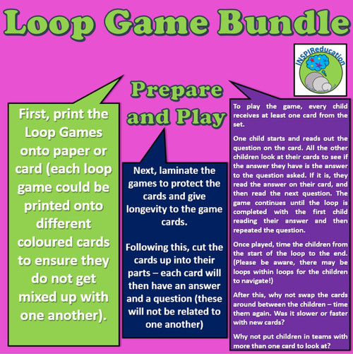 """Math Loop Game Bundle - 13 Topic Based Games, """"I have...Who Has..?"""""""