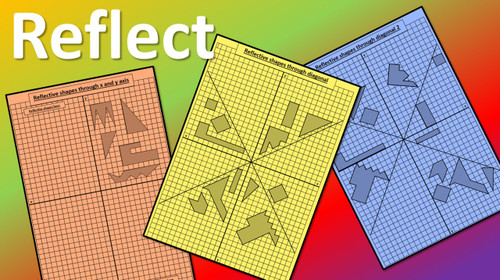 Reflection, Translation, Rotation, Scale Up and Down - 2D Shapes