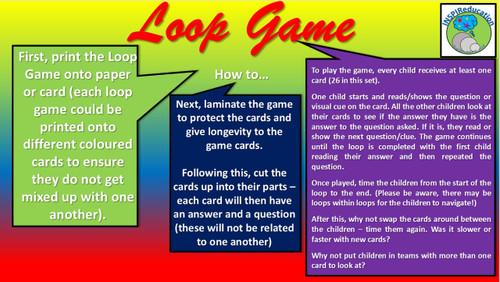 "3D Shapes, nets, solids, descriptions, visuals - Loop Game: ""I have...Who has..?"""