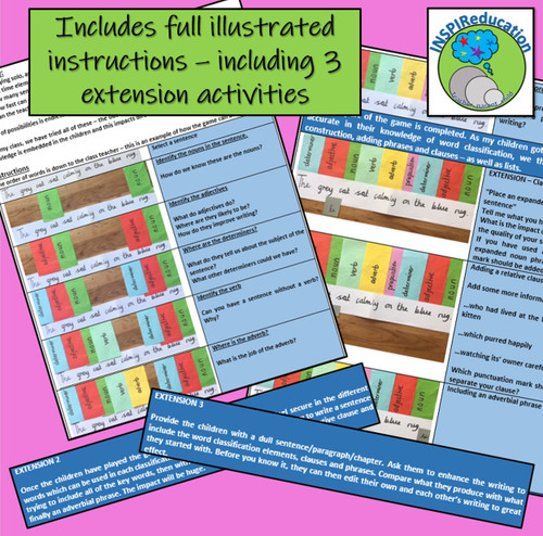Word Classification - Whole Class Challenge Game