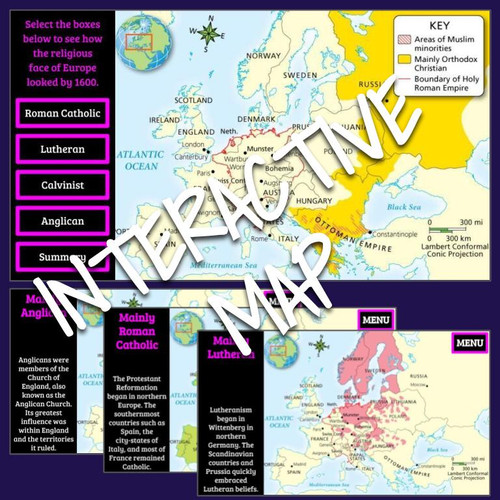 Interactive Map and Timeline: Major Religions and English Reformation