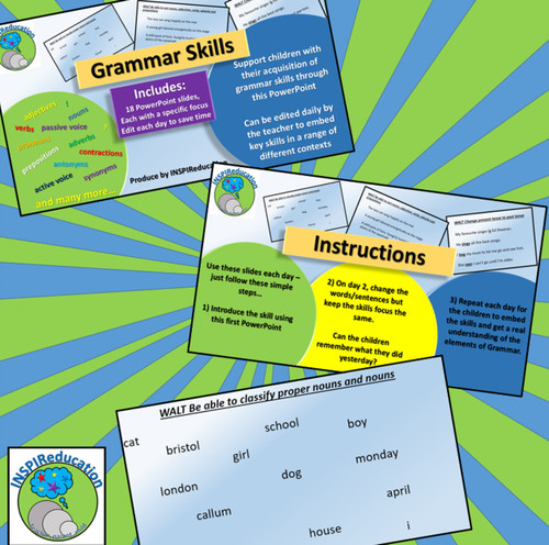 Grammar - Daily Practice PowerPoint Teaching Activities (1 of 5)