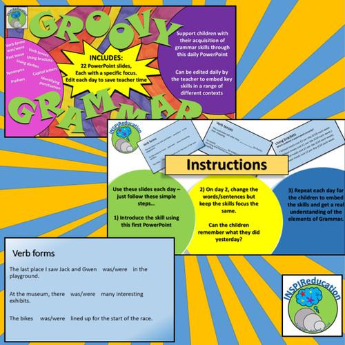 Grammar - Daily Practice PowerPoint Teaching Activities (2 of 5)