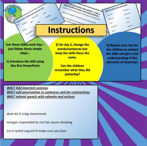 Grammar - Daily Practice PowerPoint Editable activity (3 of 5)