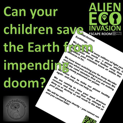 Alien Eco Invasion - Escape Room (Science and Math)
