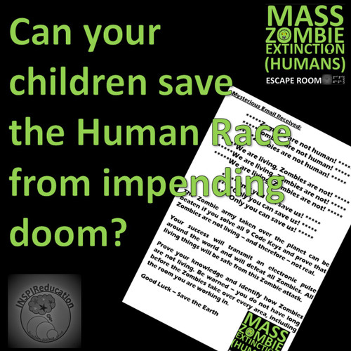 Mass Zombie Extinction - Escape Room - Humans, Characteristics of Living Things