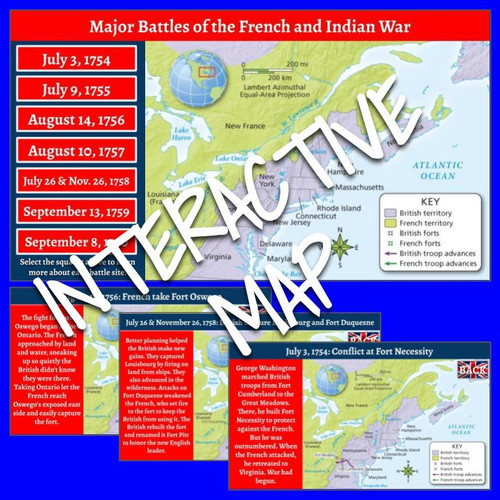 Interactive Map: French and Indian War