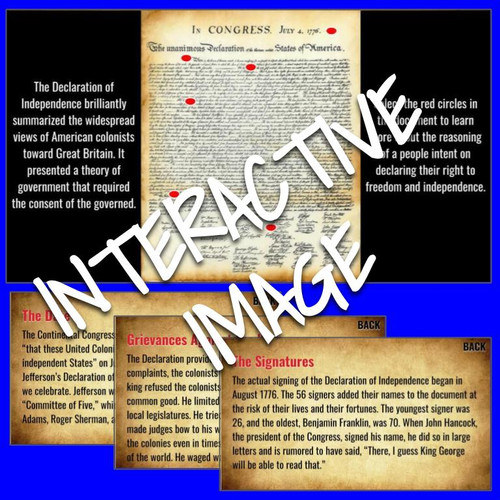 Interactive Image: Declaration of Independence