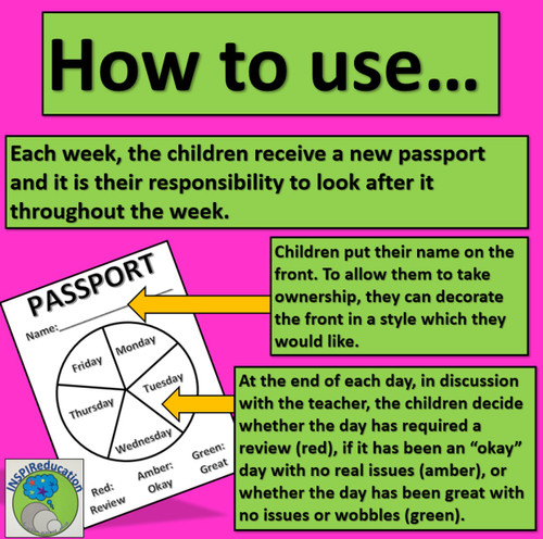 Behaviour Passport - Engaging Pupils to develop good behaviour for learning