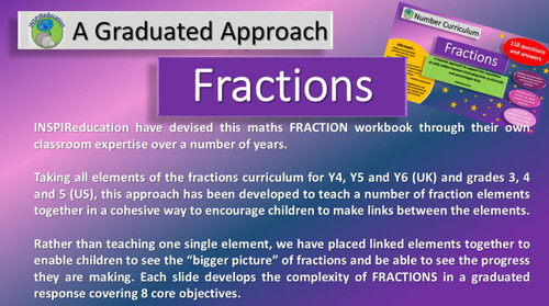 Fractions - Four Operations (add, subtract, multiply and divide) A graduated approach