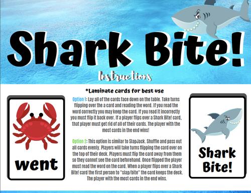 Shark Bite! A First Grade Sight Word Card Game