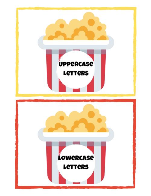 Popping Letter Sort