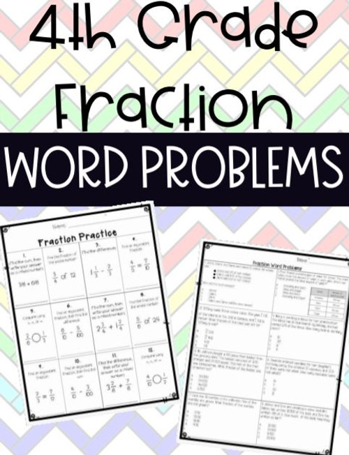 Fraction Word Problems Equivalent, Comparing, Adding, Multiply by Whole Numbers