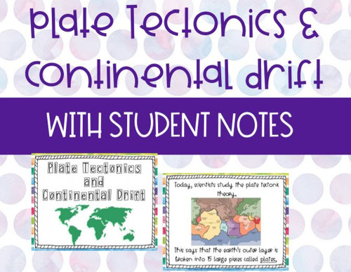 Distance Learning Plate Tectonics and Continental Drift Lesson with Guided Notes