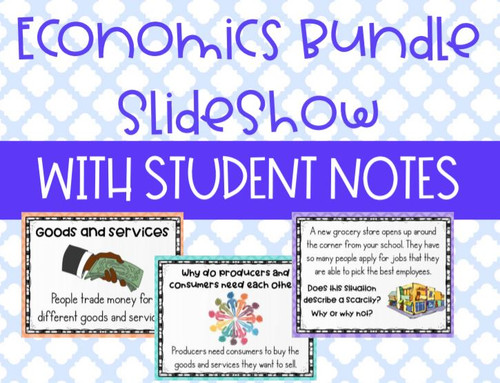 Distance Learning FIVE Social Studies Economics Lessons and Guided Student Notes