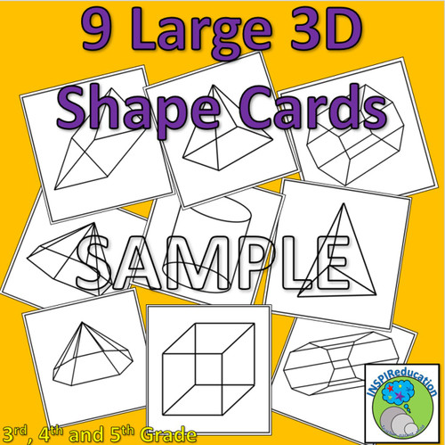 3D Shapes - 27 Posters, shapes, nets and desciptions