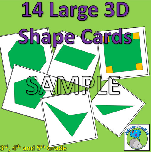 2D Shape Posters - 28 Large Posters, Shapes and Descriptions