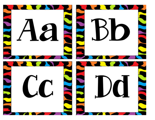 Zebra Sight Word and Word Wall Labels