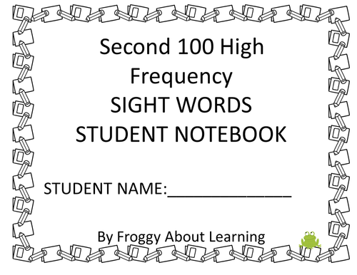 High Frequency Words Packet 2 - 2nd Grade