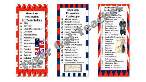 Checklists/Bookmarks (Bundle)-All Early U S  History Units (1607-1877)