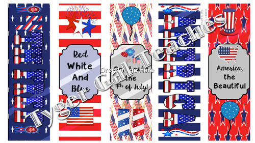 Holiday Bookmarks - 4th of July/Independence Day (1)