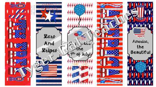 Holiday Bookmarks - 4th of July/Independence Day (2)