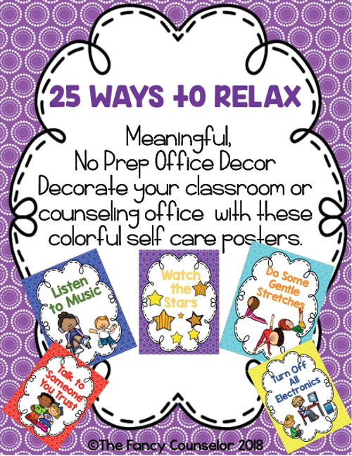 25 Ways to Relax Posters