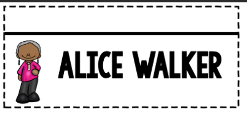 Alice Walker Flipbook Black History Month Women's History Month Activity