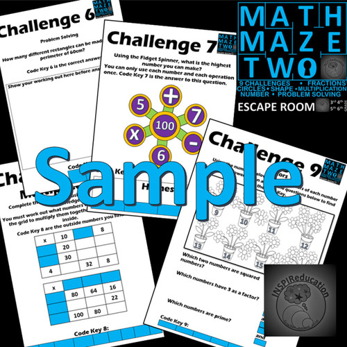 Math Escape Room - Math Maze Two - Number and Shape: 9 ...