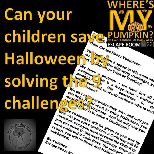 Halloween - Escape Room: Problem Solving, Math, Language, Science
