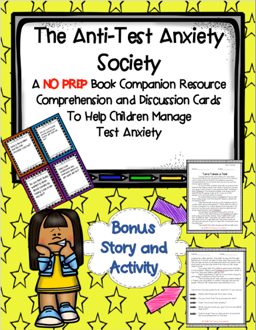 The Anti Test Anxiety Society by Julia Cook Book Companion Activity and Worksheet