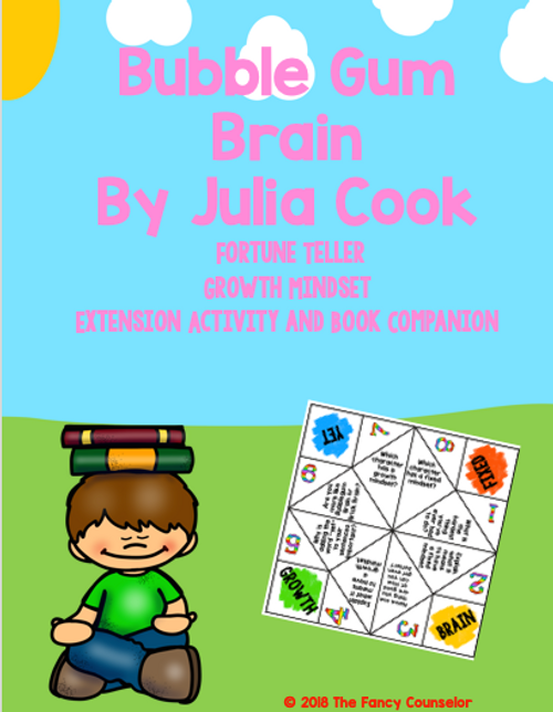 Bubblegum Brain by Julia Cook Growth MIndset Story Extension Activity Craftivity