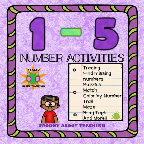 1 -5 Number Activities