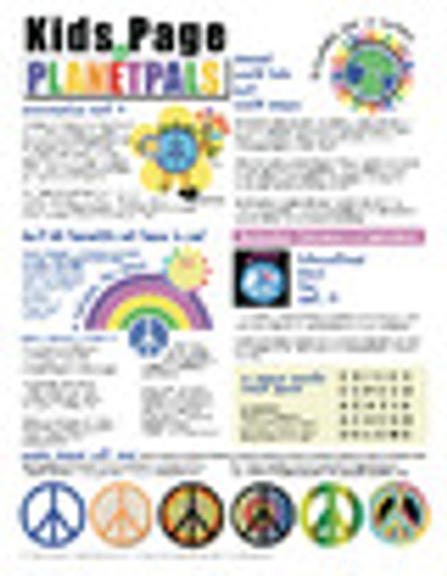 Planetpals World Peace Classroom Poster Set & Activity Page PeacePal Teaches Love