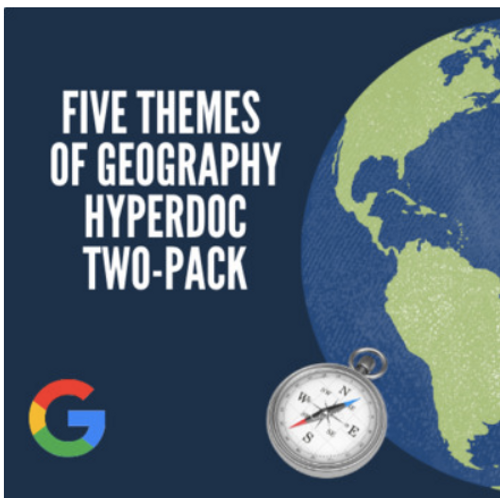 Five Themes of Geography Hyperdoc / Digital Interactive Activity Two-Pack