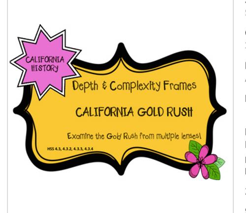 California Gold Rush Depth and Complexity Frames