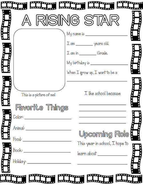 All About Me - Movie Themed - FREE