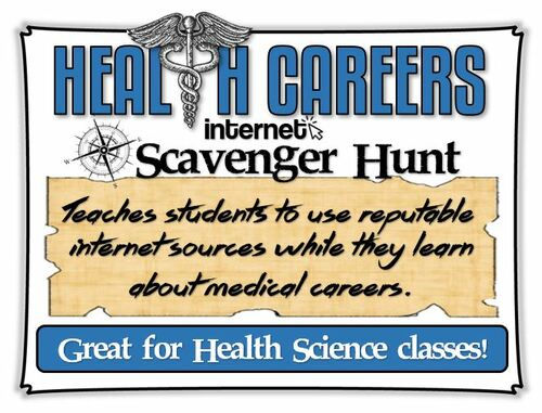 Health Careers Internet Scavenger Hunt- Updated for 2021- Distance Learning Option!