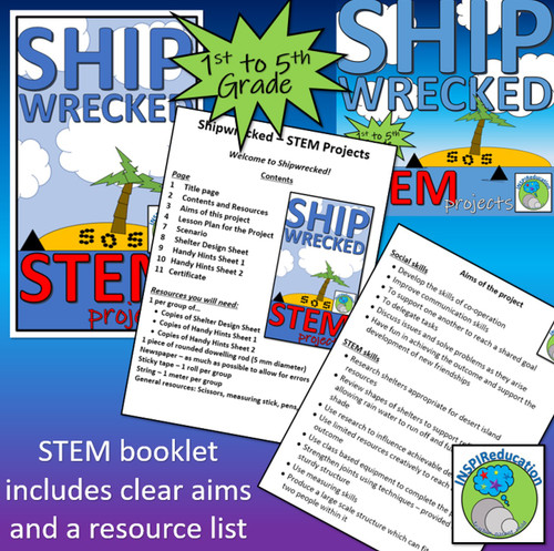 STEM: Structures in context - Shipwrecked Shelters, Lesson Plans, Hints and Certificate
