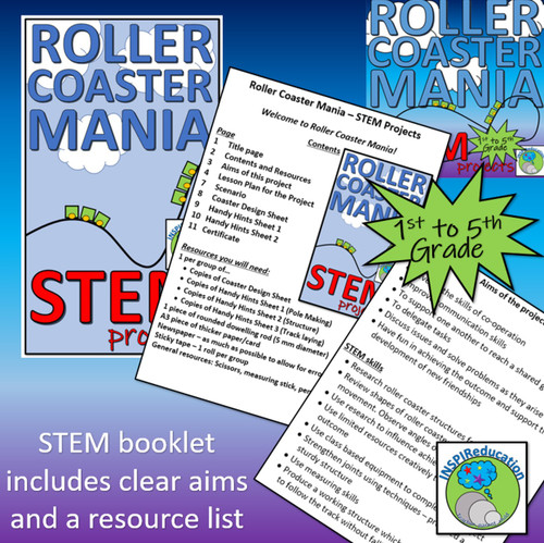 STEM: Structures in context - Roller Coaster Building, Lesson Plans, Handy Hints Sheets, Certificate