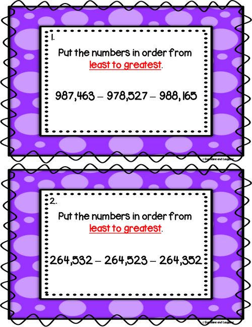Number Order Scoot - 100,000's