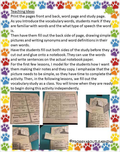 2nd g. Vocabulary Study 1 (Interactive-L 1-10)